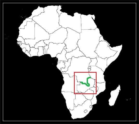 Granica Demokratyczna Republika Konga z Zambią grafika