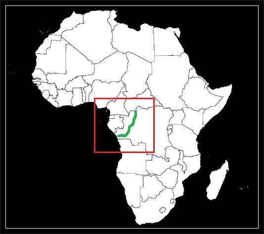 Granica Demokratycznej Republiki Konga z Kongo grafika