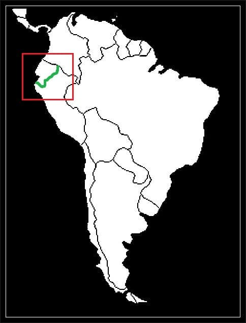 Granica Ekwadoru z Peru grafika