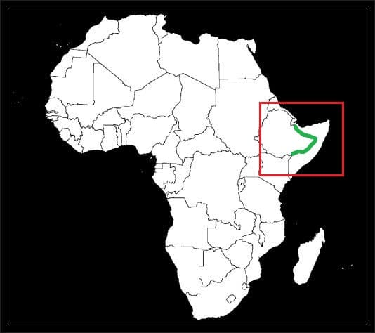 Granica Etiopii z Somalią grafika