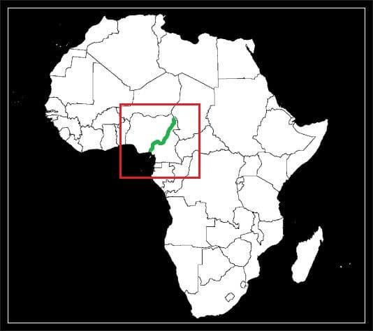 Granica Kamerunu z Nigerią grafika