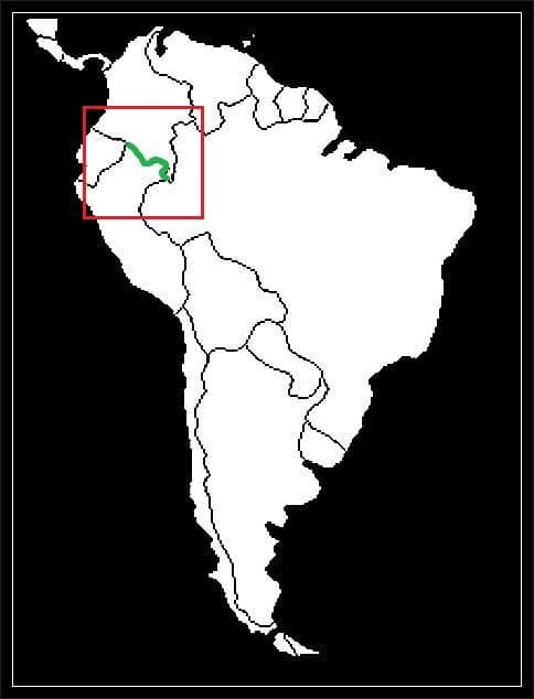 Granica Kolumbii z Peru grafika