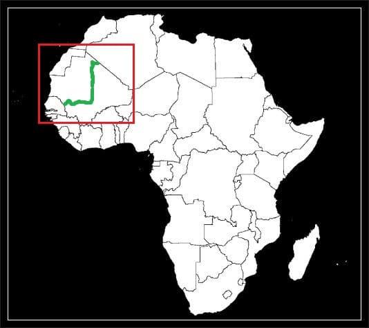 Granica Malii z Mauretanią grafika