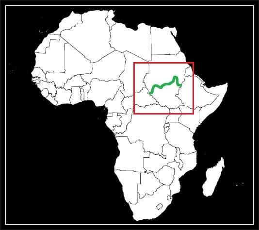 Granica Sudanu z Sudanem Południowym grafika