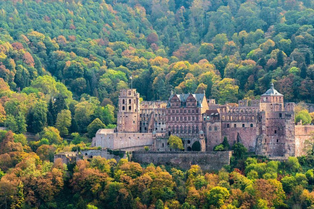 Zamek w Heidelbergu grafika