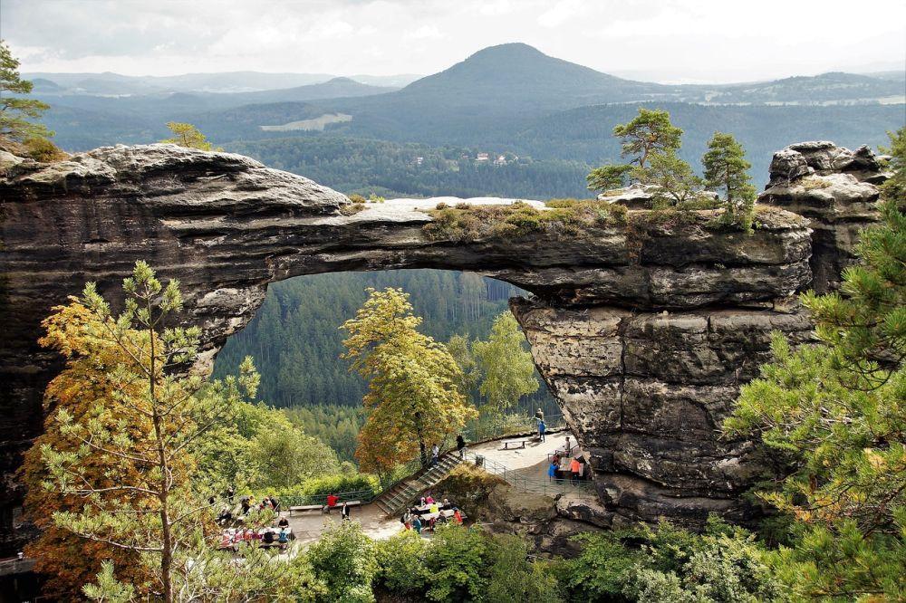 Park Narodowy Czeska Szwajcaria grafika