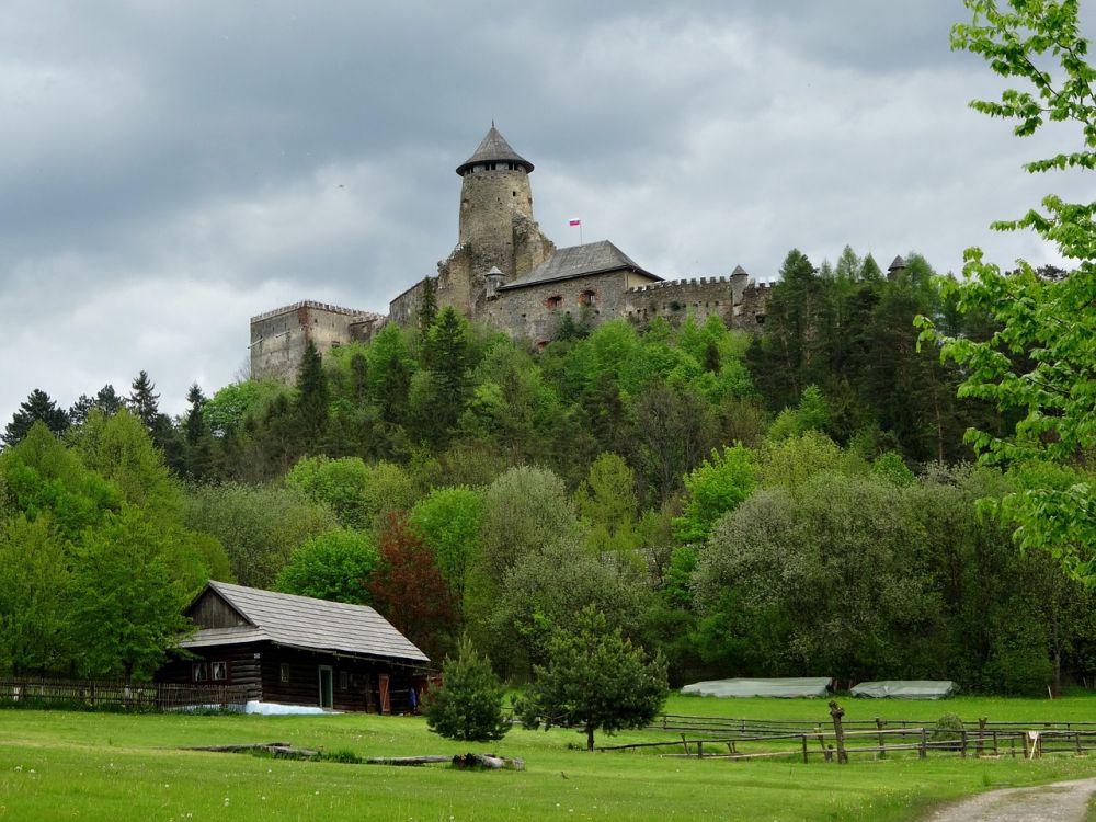 Zamek w Lubowli grafika