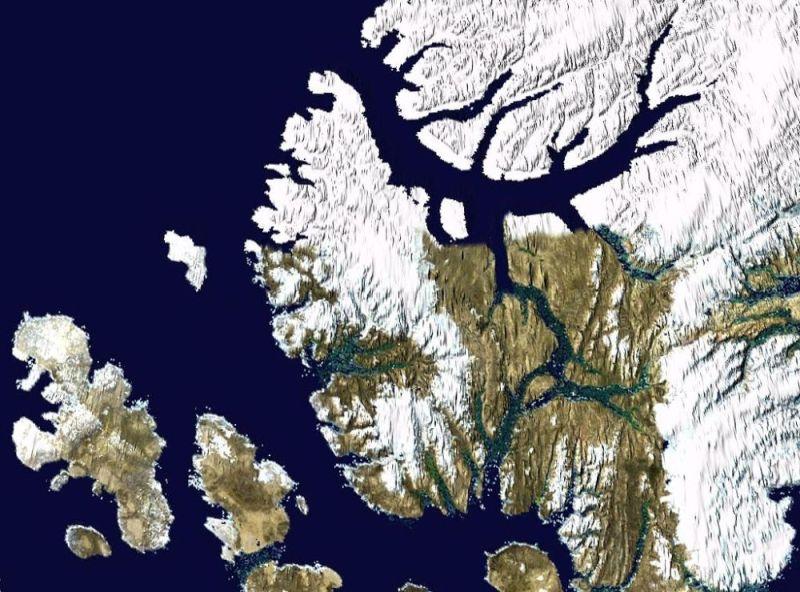 Wyspa Axela Heiberga grafika
