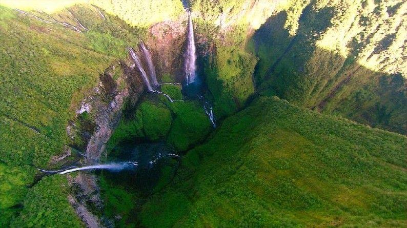Wodospad Cascades de Trou de Fer grafika