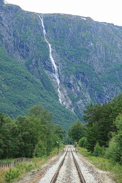 Wodospad Ølmåafossen grafika